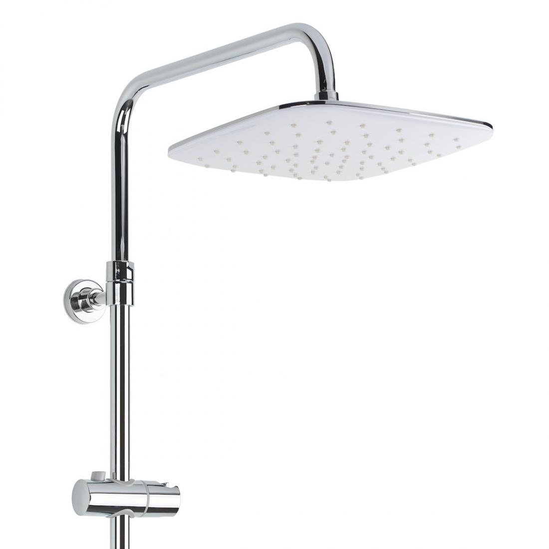 Sprchový systém Optima Optima s termostatickou baterií bílá/chrom OPTIMASSTZ
