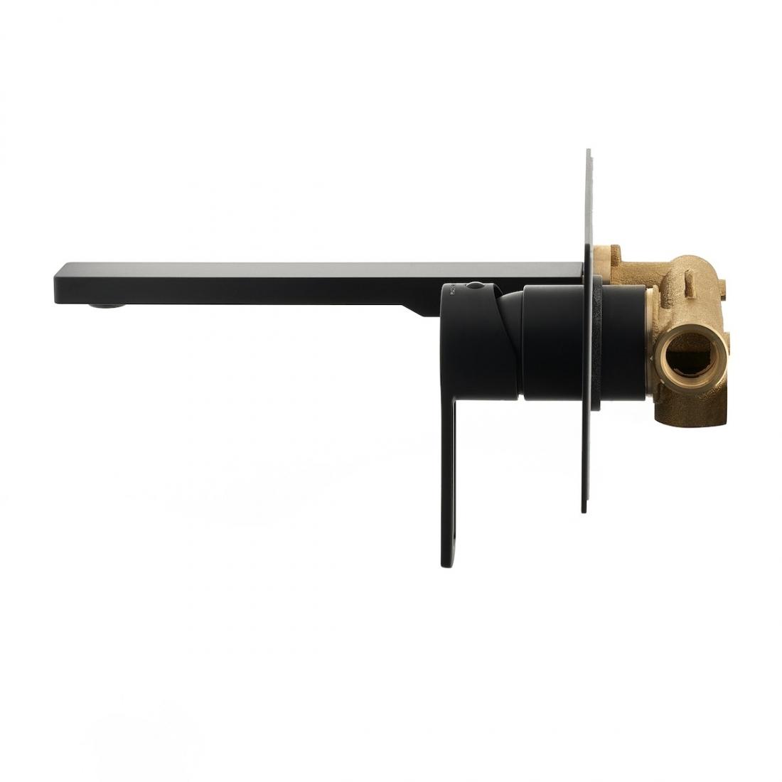 Umyvadlová baterie Paffoni Vallone včetně podomítkového tělesa černá RIN105NO