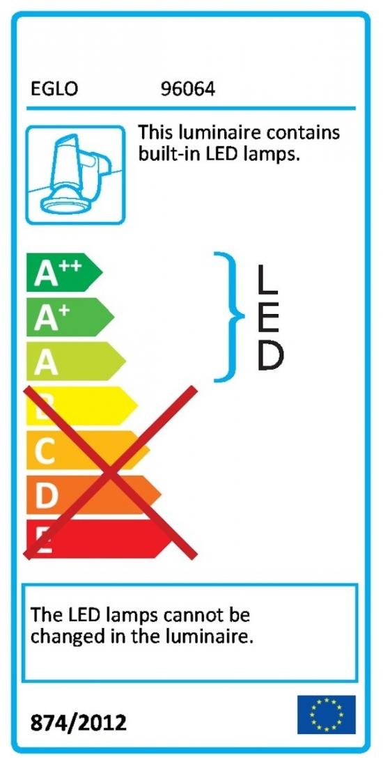 LED osvětlení Eglo Pandella 40x4,2 cm kov chrom 96064