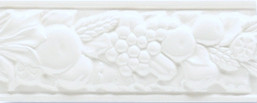 Grazia Boiserie Robbiana Bianco Matt 8x20 Bílá ROB 01