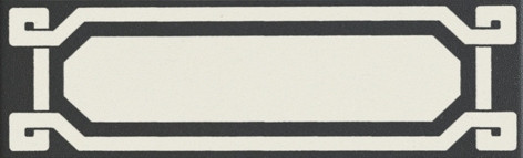 Grazia Old England List. Black Dover 6x20 Černá, Krémová OELDB1