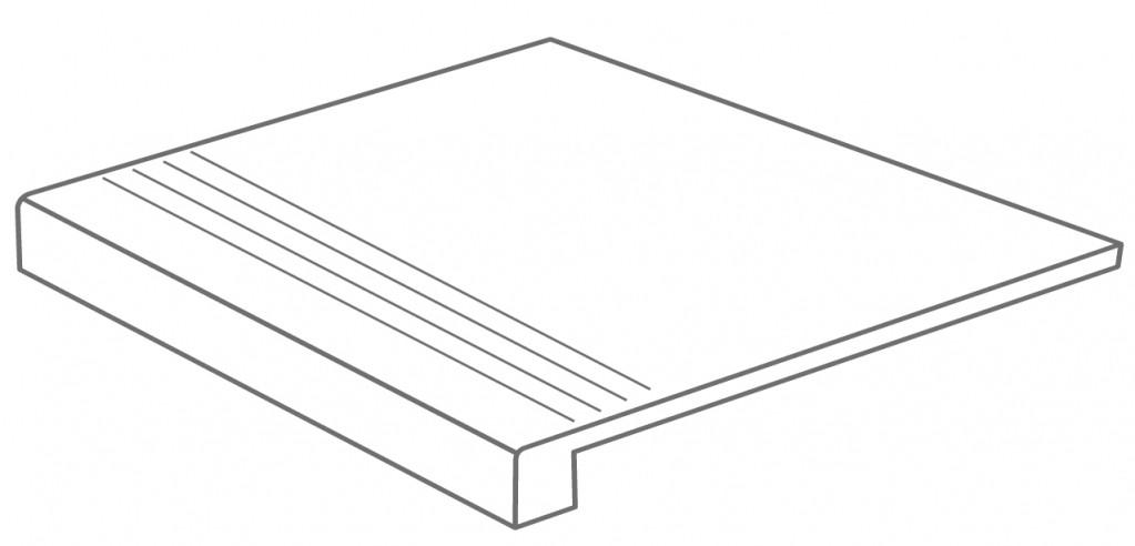 Arcana Lithos Gradone Gris 59,3x59,3 (schodovka) Šedá tmavá Lithos Gradoen Gris R.360