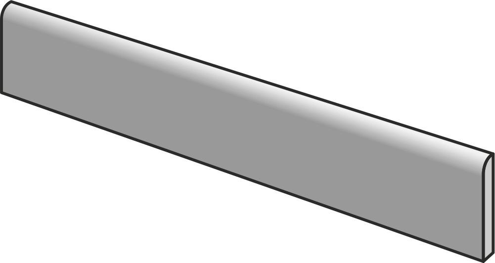 Tuscania Decape Battiscopa Miele R 6,5x122,6 Šedá