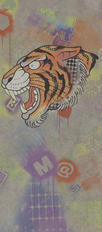 Flaviker Hyper Dec. Tiger Grey 120x270 Šedá, Multicolor 0003189