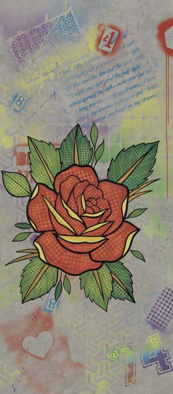 Flaviker Hyper Dec. Rose Silver 120x270 Multicolor 0003190