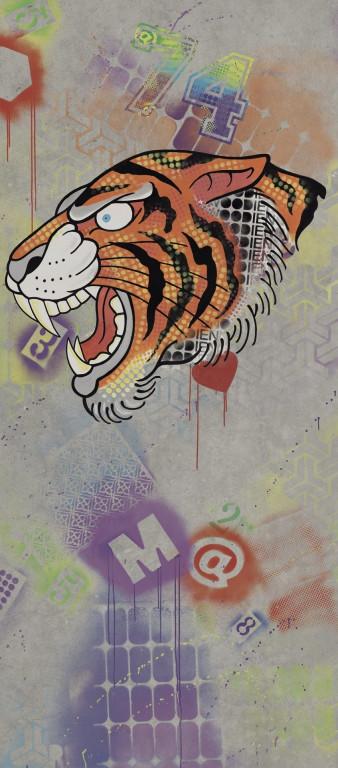 Flaviker Hyper Dec. Tiger Silver 120x270 Multicolor 0003188