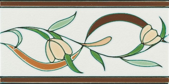 Grazia Venice Bordura Lido B 10x20 Bílá, Hnědá, Multicolor LIDO200