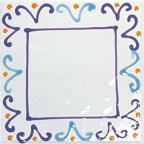 Tonalite Provenzale Decoro Courbet 15x15 Modrá, Bílá, Fialová D1521COU