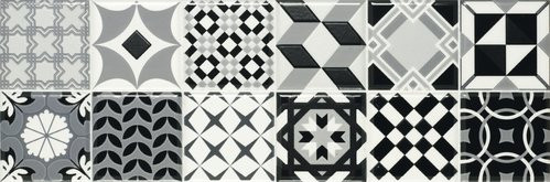 APE Home Decor Dust I 20x60 Černá, Bílá A020094/K64