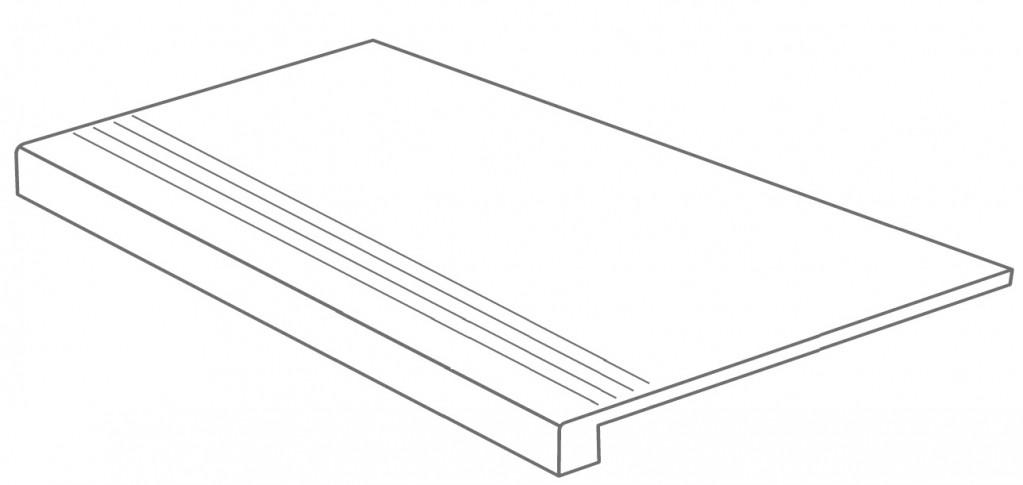 Arcana Buxi Gradone Basalto 30x60 (schodovka) Černá Buxi Gradone Basalto R.354