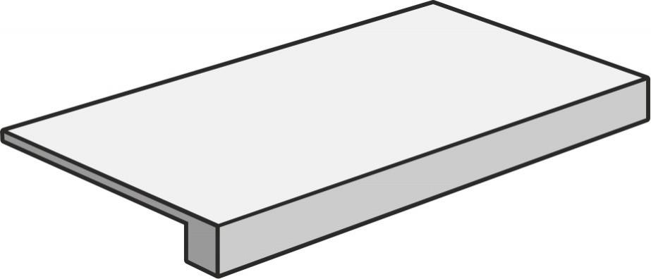 Marca Corona Springstone Black Scalino 60, 33x60 (schodovka) Černá D586