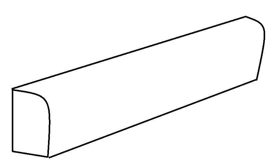 41zero42 Paint-it White Skirting 7,5x119,5 (sokl) Bílá 4100627
