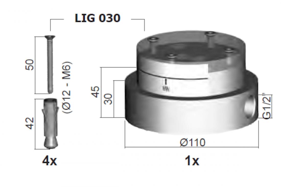 Podomítkové těleso Paffoni Light LIG030