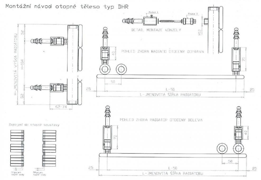 Radiátor kombinovaný Anima Oliver 151x60 cm antracit SIKODHR6001600A