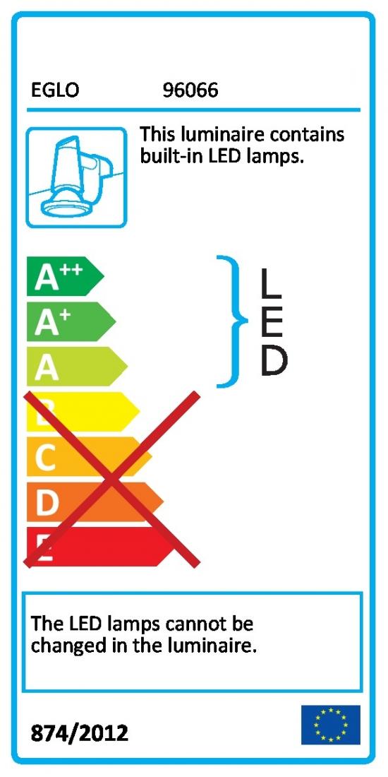 LED osvětlení Eglo Pandella 78x4 cm kov chrom 96066