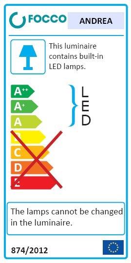 LED osvětlení Focco 26 cm chrom ANDREALED