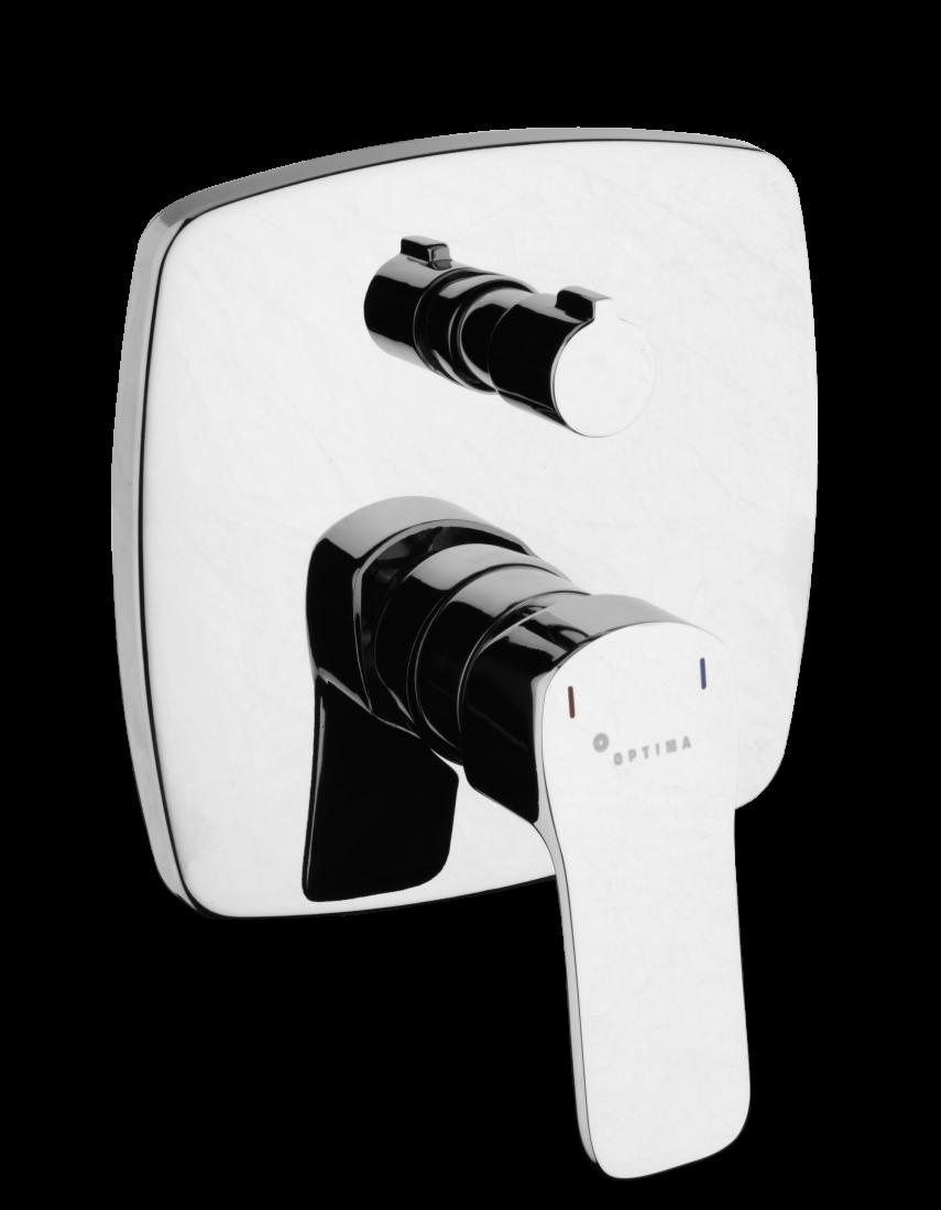 Vanová baterie Optima Cube Way včetně podomítkového tělesa chrom CU215
