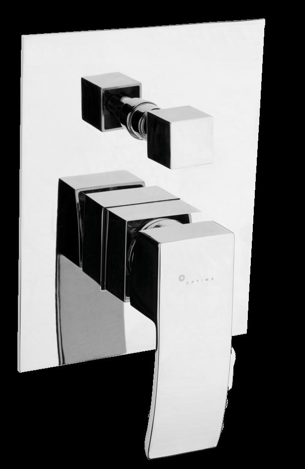 Vanová baterie Optima Donata včetně podomítkového tělesa chrom DO215