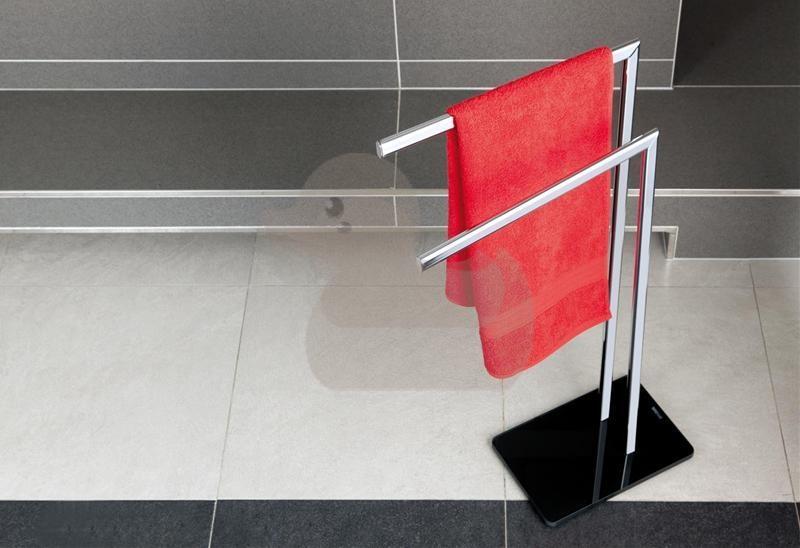 Držák ručníků Optima Glass chrom/černá GLASDRZRUC