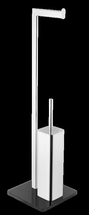 Wc štětka Optima Glass chrom/černá GLASDRZSTET