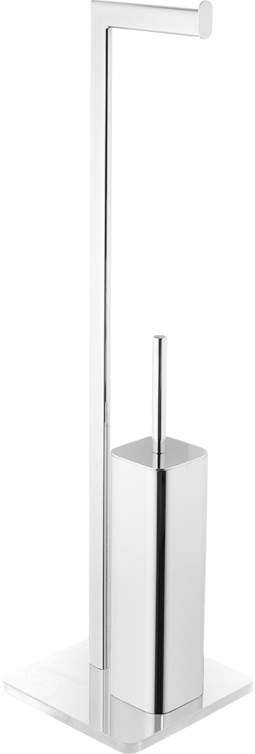Wc štětka Optima Glass chrom/bílá GLASDRZSTETB