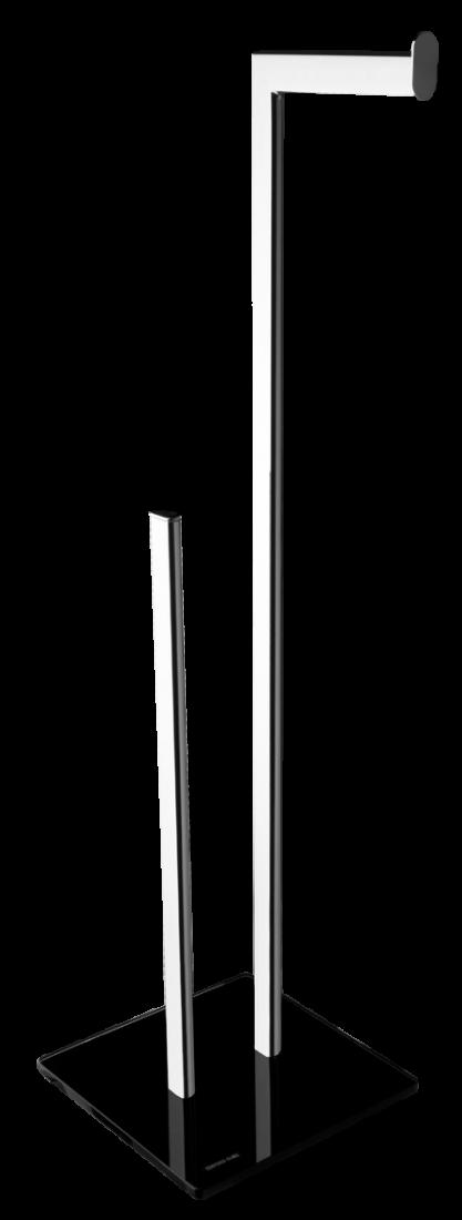 Držák toaletního papíru Optima Glass chrom/černá GLASZASDRZPAP