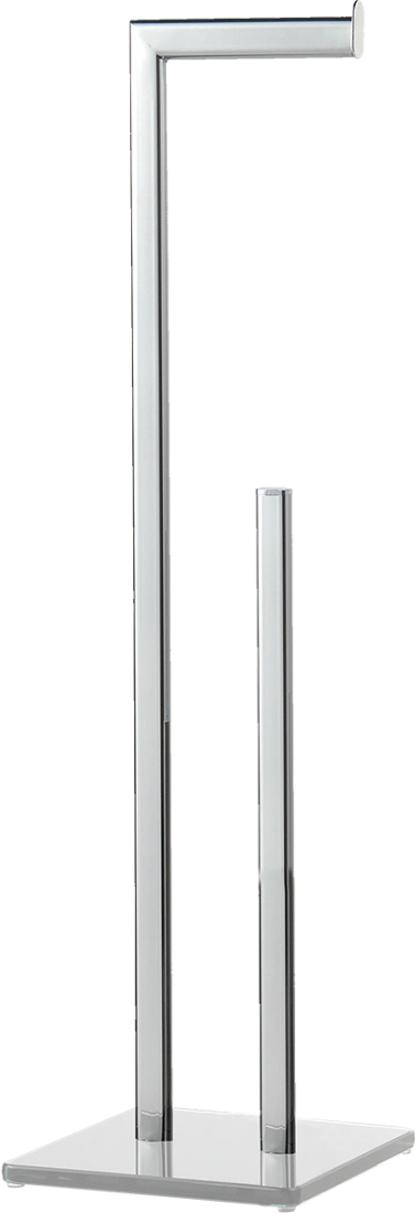 Držák toaletního papíru Optima Glass chrom/bílá GLASZASDRZPAPB