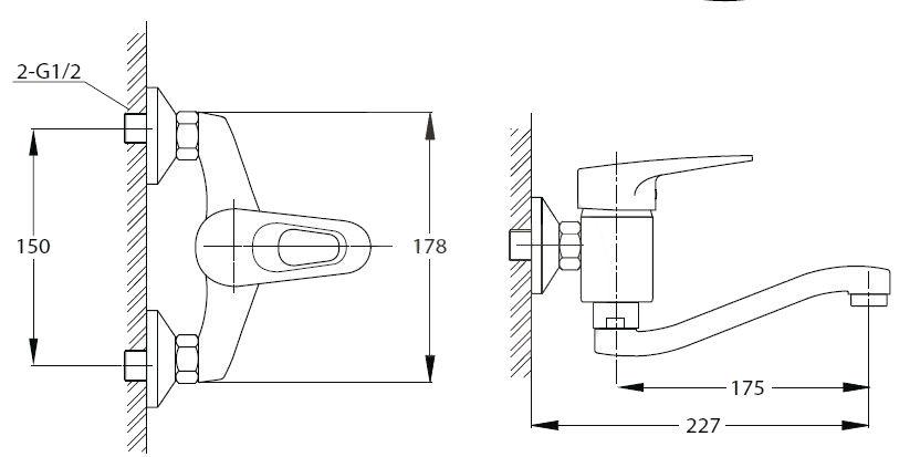Dřezová baterie Optima Lavela s otočným raménkem 150 mm chrom LA261