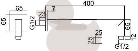 Sprchové rameno Optima chrom OPH007