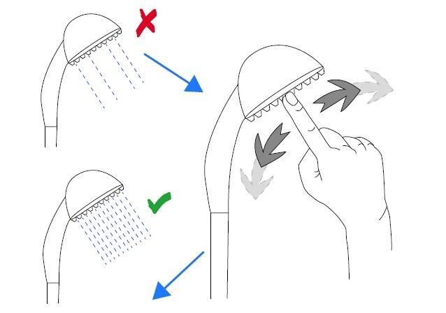Ruční sprcha Optima chrom OPH020