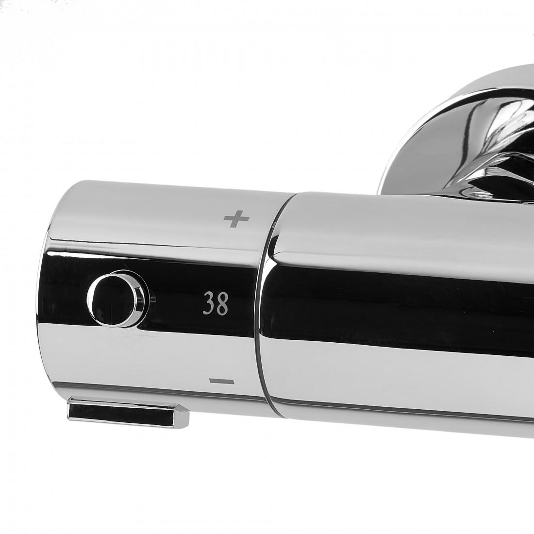Sprchový systém Optima s vanovým termostatem bílá/chrom OPTIMASSTZV