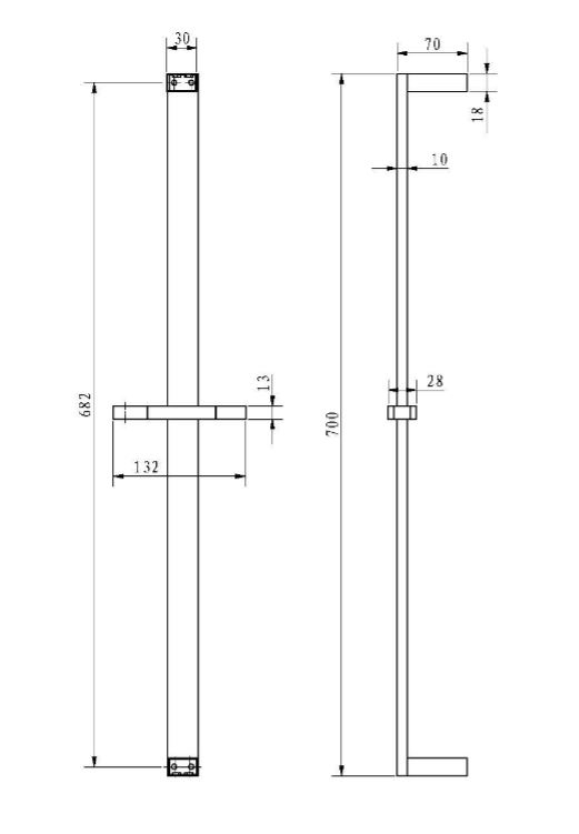 Sprchová tyč Optima chrom SIKOBSSTH61