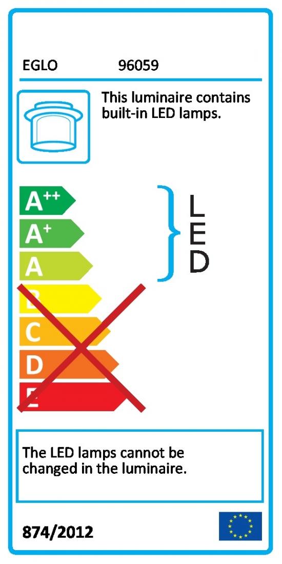 LED osvětlení Eglo Fueva 30x4 cm kov chrom 96059
