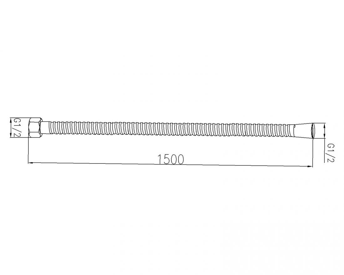 Sprchová hadice S-Line chrom SL085