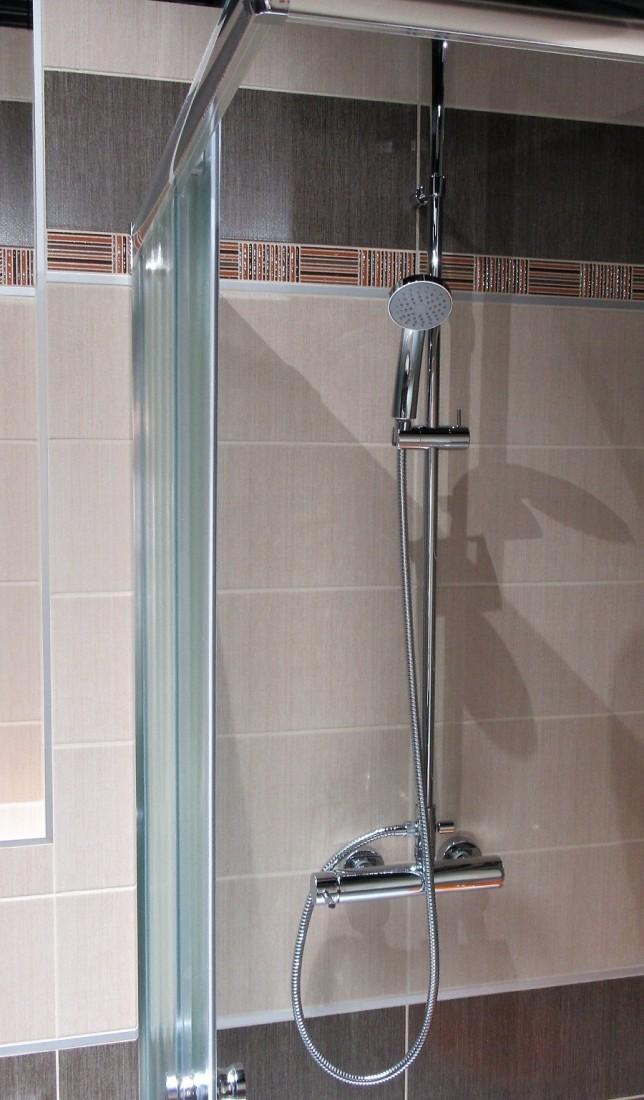 Sprchový systém Paffoni s pákovou baterií chrom ZCOL686